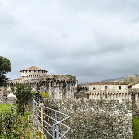 sarzana: photo of cittadella in sarzana a very beautiful town near la spezia Editorial