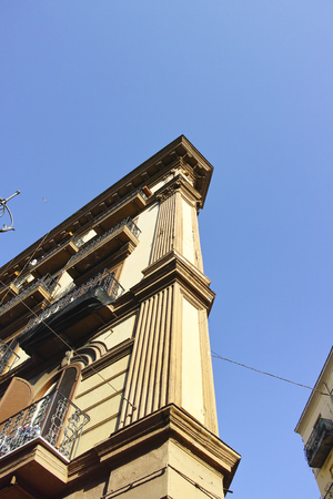 naples: old building in the town of naples in italy Stock Photo