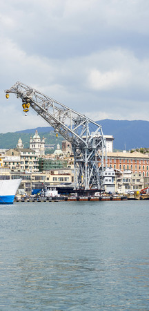 View of the Harbour in Genoa in italy