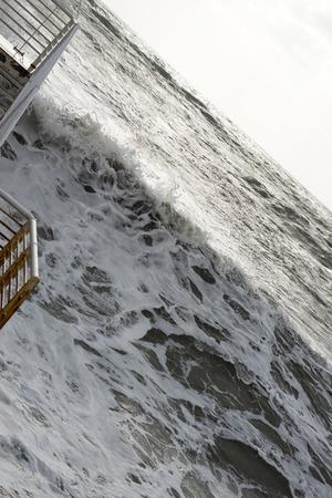 massa: Storm at sea in Massa a beautiful place in Tuscany Stock Photo