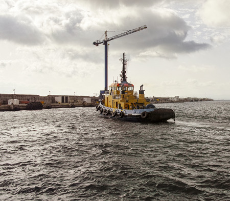 tug boat: photo of a tug boat in the harbour of gibraltar