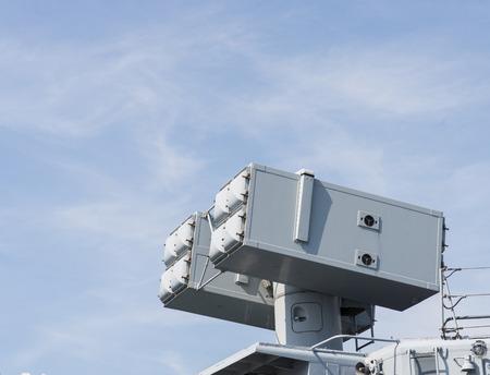 frigate: defense missiles on board a italian frigate