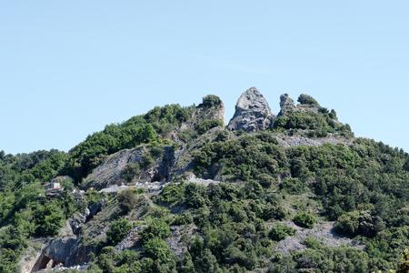 spezia: photo of a portore marble quarry in la spezia Stock Photo