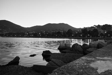 spezia: photo of la spezia in the night in summer time