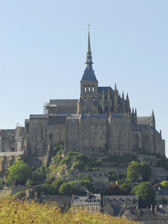 mont saint michel: photo of mont saint michel in france during summer