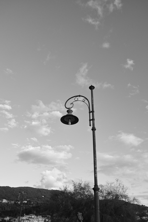 detail of old street lamp in a street Stock Photo
