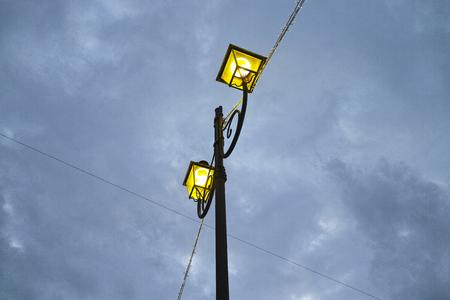 spezia: Old street lamp in La Spezia