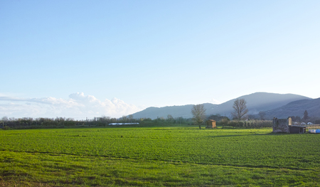 open country: very nice view of italian open country