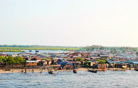 detail of lagos town in nigeria , west africa