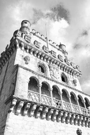 belem: Belem tower on Tagus river, Belem, Lisbon, Portugal.