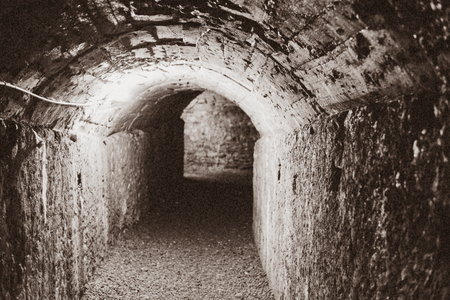 sarzana: detail of a tunnel inside a old castle in Sarzana