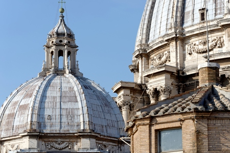detail of Basilica of Saint Peter in Vatican in a summer day Editorial