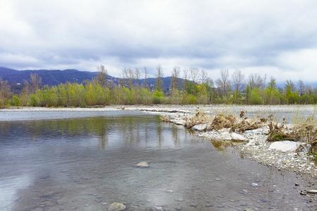 spezia: detail of a beautiful river near la spezia