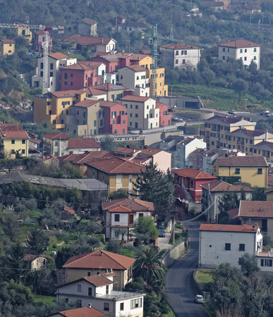 spezia: aerial view of la spezia a beautiful town in italy