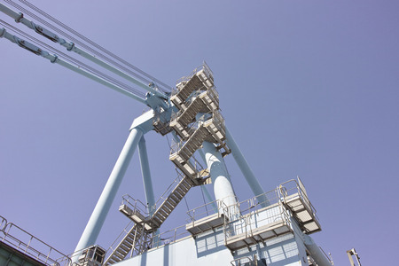 gantry: detail of a gantry in a harbour Stock Photo