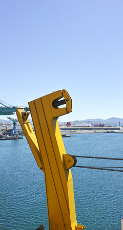 ramp: opening a big ramp of roro vessel im Marseille port Stock Photo