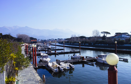 forte: detail of harbour in forte dei marmi ,tuscany italy