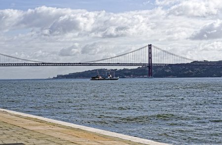 the tagus: photo of  25 de Abril Bridge over the Tagus River