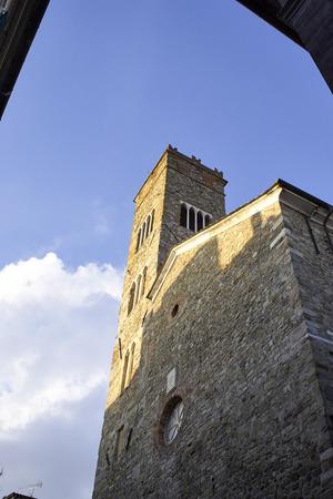 detail of beautiful church in Sarzana ,Italy