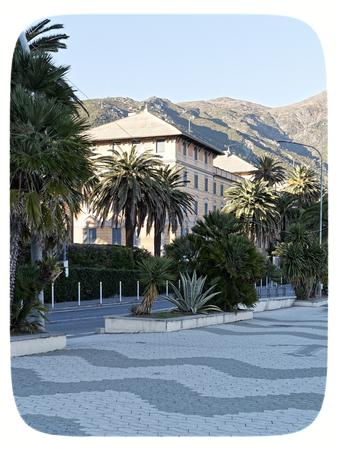 nice view of arenzano near genova Stock Photo