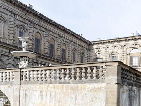 palazzo: detail of palazzo pitti in florence Stock Photo