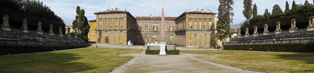 palazzo: view of palazzo pitti in florence, italy Stock Photo