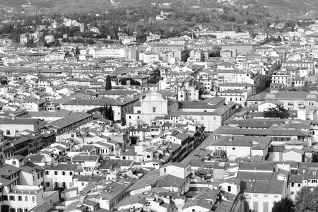 aerial view of florence take from duome of florence Stock Photo