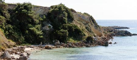 very nice view of puglia coastline , italy