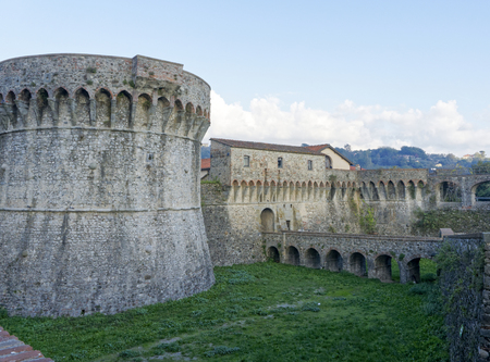 the mighty Pisan Fortezza Firmafede in Sarzana ,iTALY