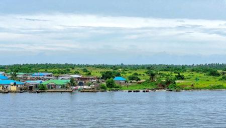 town of lagos in nigeria , africa