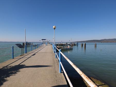Isola Maggiore on Lake Trasimeno in Umbria, Italy