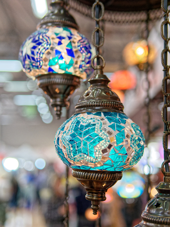 detail of oriental lamp in a market Stock Photo