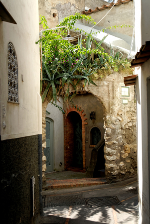 very nice view of old village in capri,italy Stock Photo