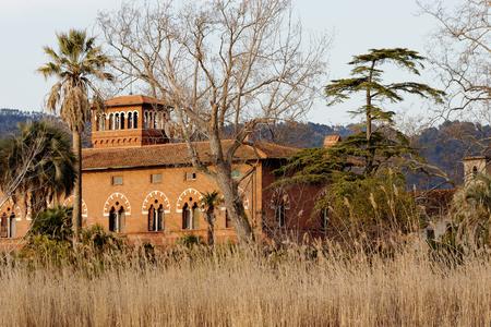 detail of beautiful villa in massaciuccoli lake, italy Фото со стока