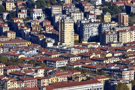 aerial view of la spezia a beautiful town in italy