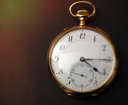 Detail of old pocket watch Stock Photo
