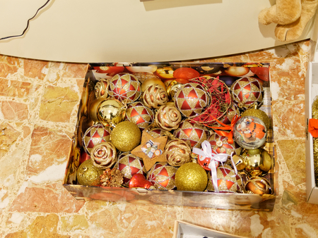 detail of christmas decoration in my house