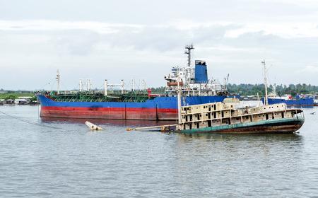 detail of ship in lagos , nigeria