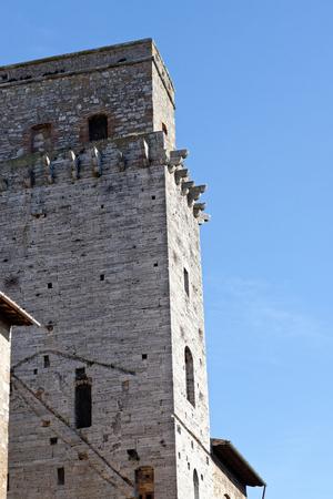 very nice villagge named san gimignano , in tuscany
