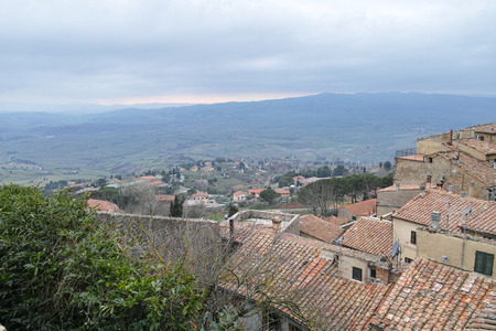 very nice view of volterra a medieval village in tuscany Stock Photo