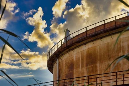 chemical plant in la speiza italy Reklamní fotografie