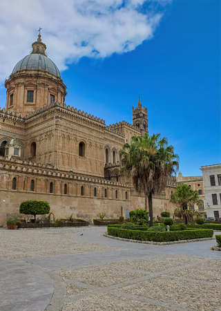very nice view of palermo duome,italy 스톡 콘텐츠