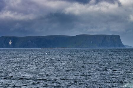 very nice view of north cape take from a cruise ship