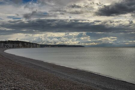 very nice view of normandie coast in france