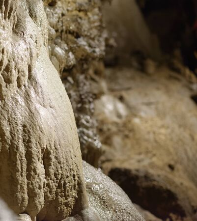 inside a cave in equi terme a little village in italy Stock Photo
