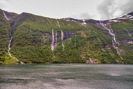 photo of norwegian fjord in summer time