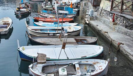 detail of boat in camogli harbour