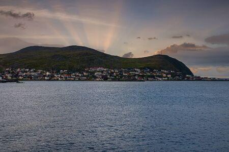 beautiful coast line in norway in summer time Stok Fotoğraf