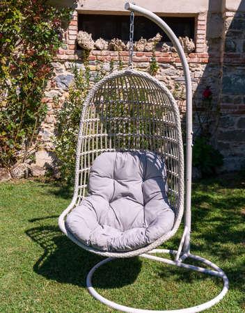 hammock chair in a summer garden Foto de archivo