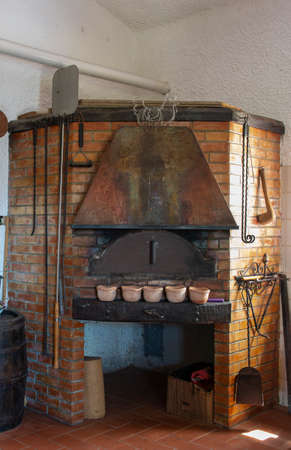 a very nice pizza oven inside a house